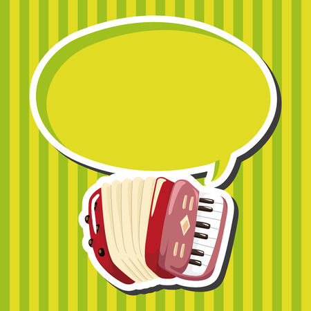 accordion: instrument accordion cartoon theme elements Illustration