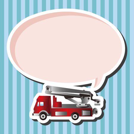 firetruck: transportation theme firetruck elements vector