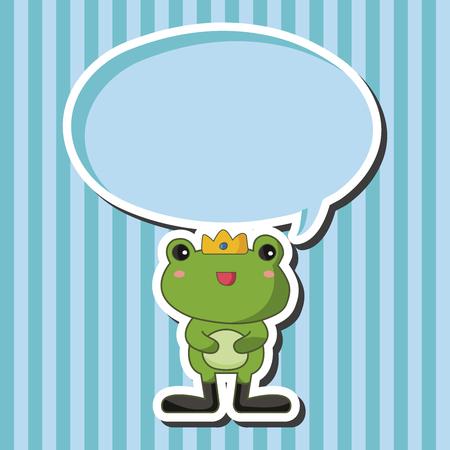 frog prince: frog prince theme elements Illustration