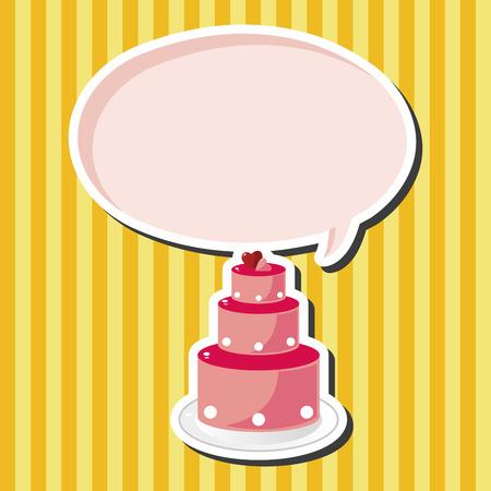 cake decorating: elementos pastel tema de la boda Vectores