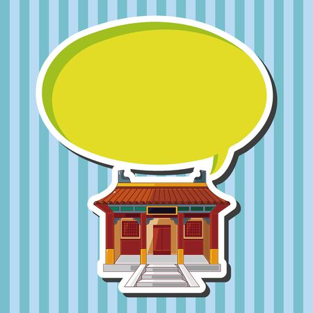 traditional illustration: Chinese building theme elements