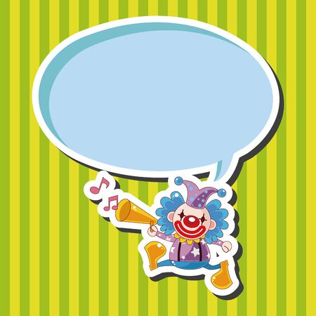funny birthday: circus clown theme elements Illustration