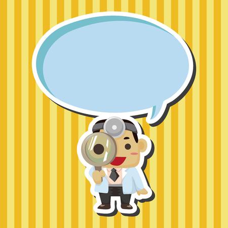communication cartoon: people theme doctor theme elements
