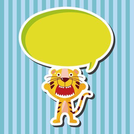 tigre caricatura: animal tiger cartoon theme elements