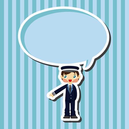 flight crew: flight captain theme elements