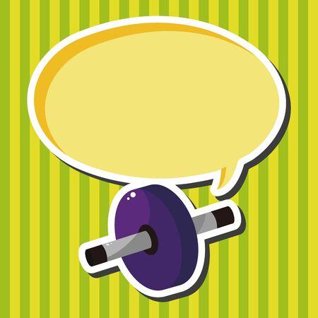 fitness equipment: Fitness Equipment theme elements