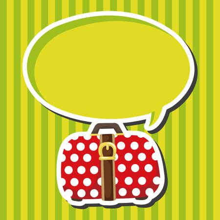 travel bag: travel bag theme elements Illustration