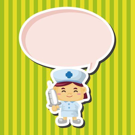 nurse hat: nurse theme elements