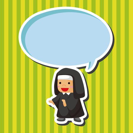 missionary: nun theme elements Illustration