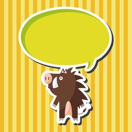 jabali: animales cerdo salvaje elementos tem�ticos de dibujos animados