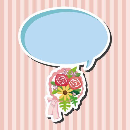 flower bouquet: flower bouquet theme elements