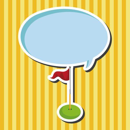 golf equipment: golf equipment theme elements Illustration
