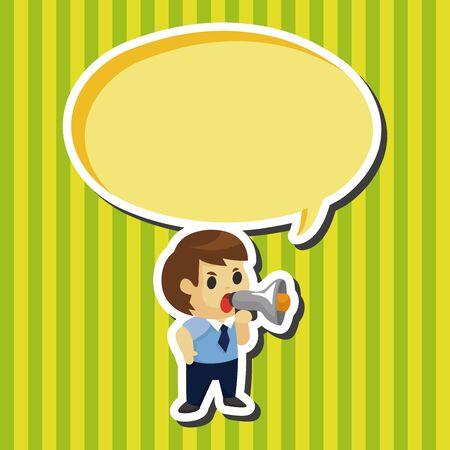 hardworking: businessman deliver the speech theme elements