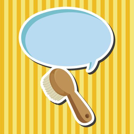 comb: bathroom comb theme elements Illustration