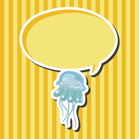 sea animal: sea animal jellyfish cartoon theme elements