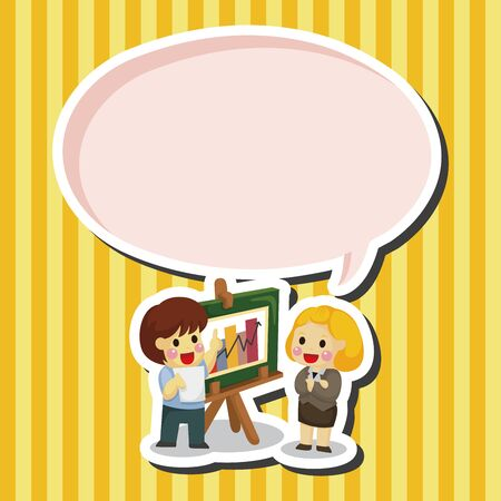 people discuss: businessmen theme elements