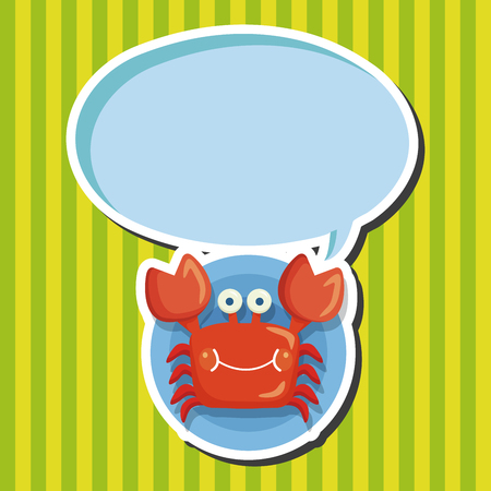 crab cartoon: sea animal crab cartoon theme elements