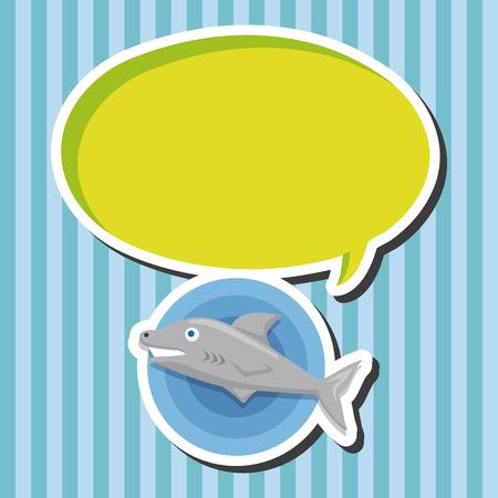 sea animal: sea animal shark cartoon theme elements Illustration