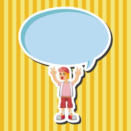 schoolkid: boy character theme elements