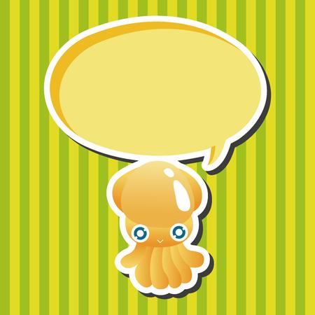 sea animal: sea animal squid cartoon theme elements