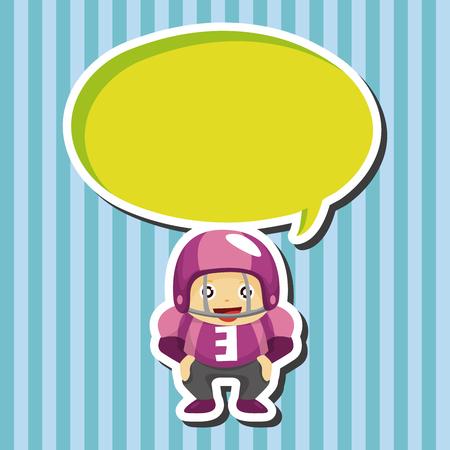 football player theme elements Illustration