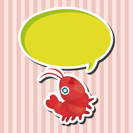 sea animal: sea animal shrimp cartoon theme elements Illustration