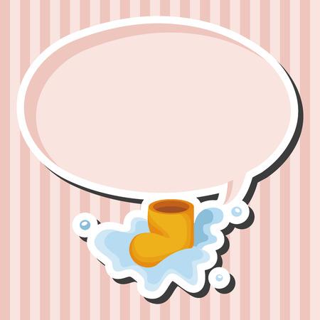 wellies: rainy boots theme elements Illustration