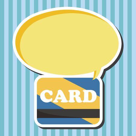 creditcard: Elementos del tema de la tarjeta de cr�dito Vectores