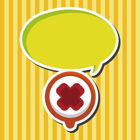 negativity: warning wrong icon theme elements Illustration