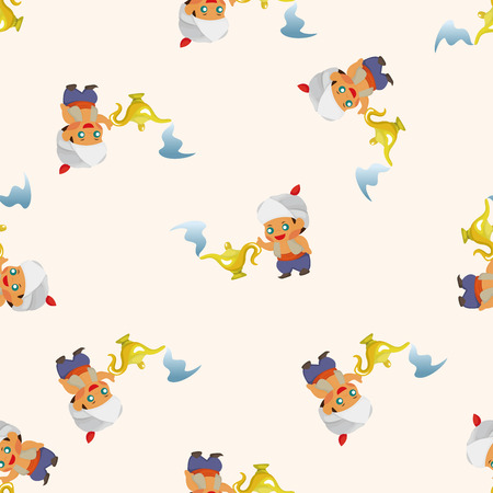 fairytale Aladdin story ,seamless pattern