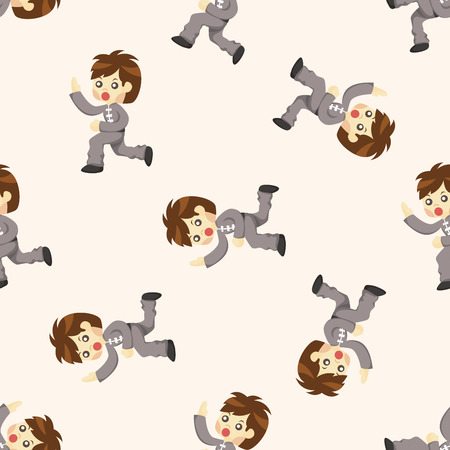 chi: Kung fu ,seamless pattern Illustration