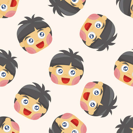 adolescent: person character ,seamless pattern