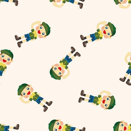 esploratori: scout ,seamless pattern