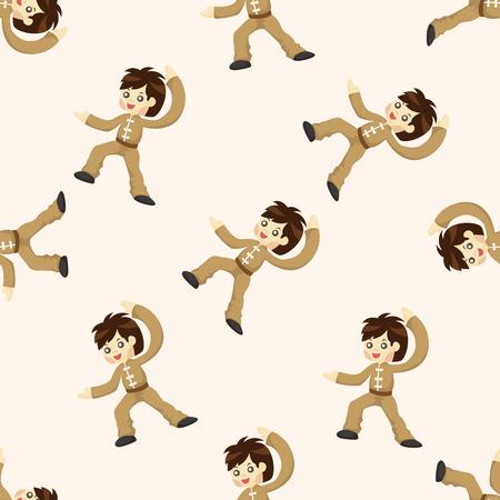 kung: Kung fu ,seamless pattern Illustration