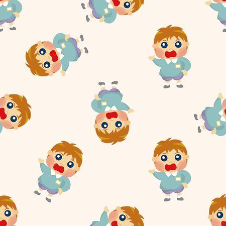 seamless pattern: kid ,seamless pattern Illustration