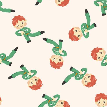 chi kung: Kung fu ,seamless pattern Illustration