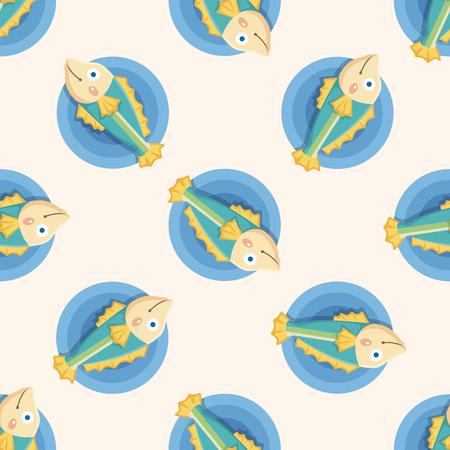 sea animal: sea animal fish cartoon ,seamless pattern Illustration