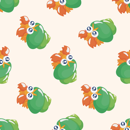 crab cartoon: sea animal hermit crab cartoon ,seamless pattern