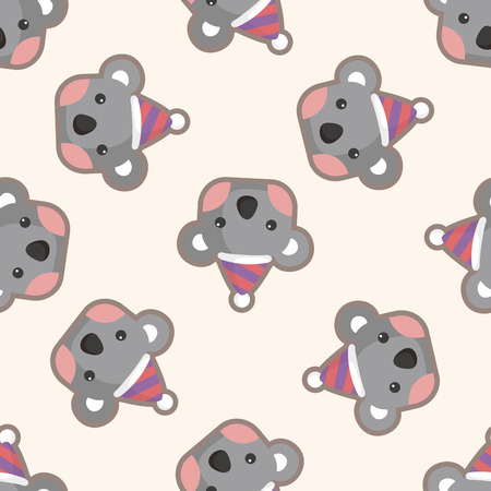 Animales koala de dibujos animados, modelo inconsútil Foto de archivo - 43911766