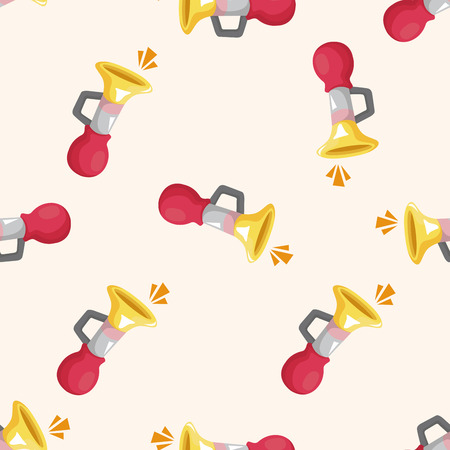 party horn blower: birthday horn ,seamless pattern Illustration