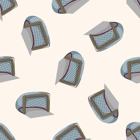 hockey equipment: hockey equipment ,seamless pattern Illustration