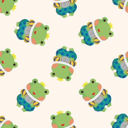 froggy: frog prince ,seamless pattern