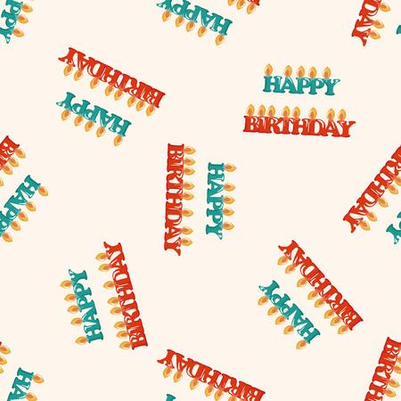 seamless pattern: birthday candle ,seamless pattern