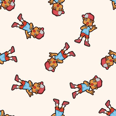 hip hop dancer: hip hop dancer ,seamless pattern Illustration