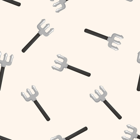 piercing: Halloween devil fork ,seamless pattern Illustration