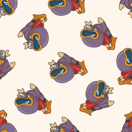 deep sea diver: diver ,seamless pattern
