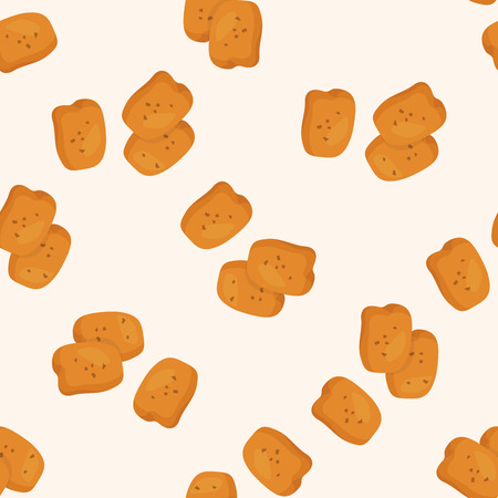 fried foods: Fried foods theme chicken ,seamless pattern Illustration