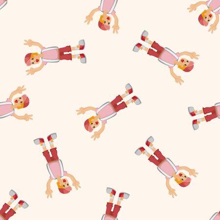 seamless pattern: boy character ,seamless pattern