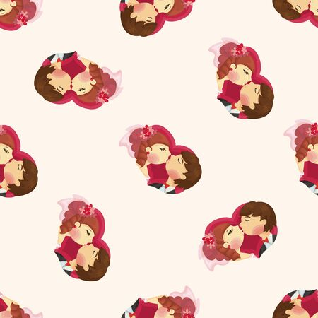 wedding couple: wedding couple ,seamless pattern