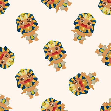 seamless pattern: pharaoh ,seamless pattern Illustration